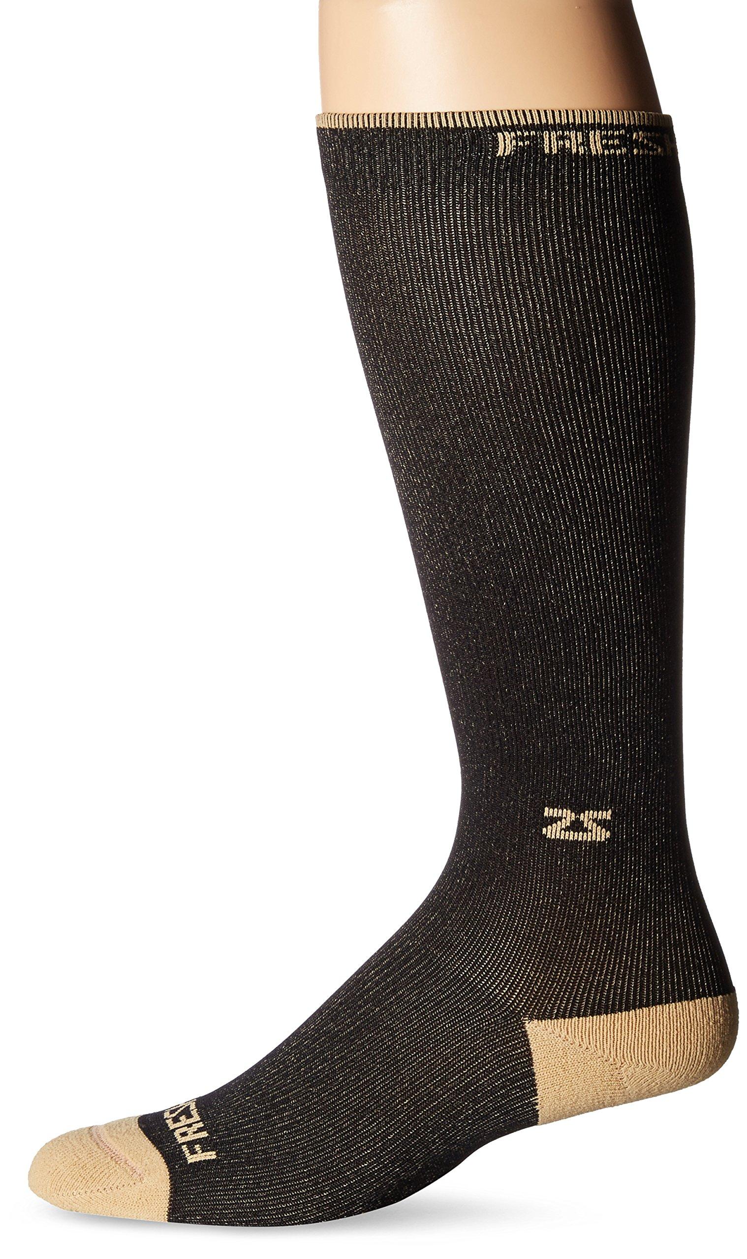 Fresh Legs Copper Compression Socks - Travel Compression Socks - Graduated Compression,M,Black