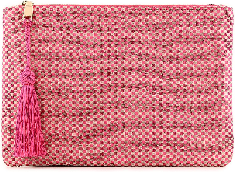 Otto Angelino Designer Women's Bohemian & Fashion Clutch Purse - Multiple Slots Money, Cards, Smartphone - Ultra Slim