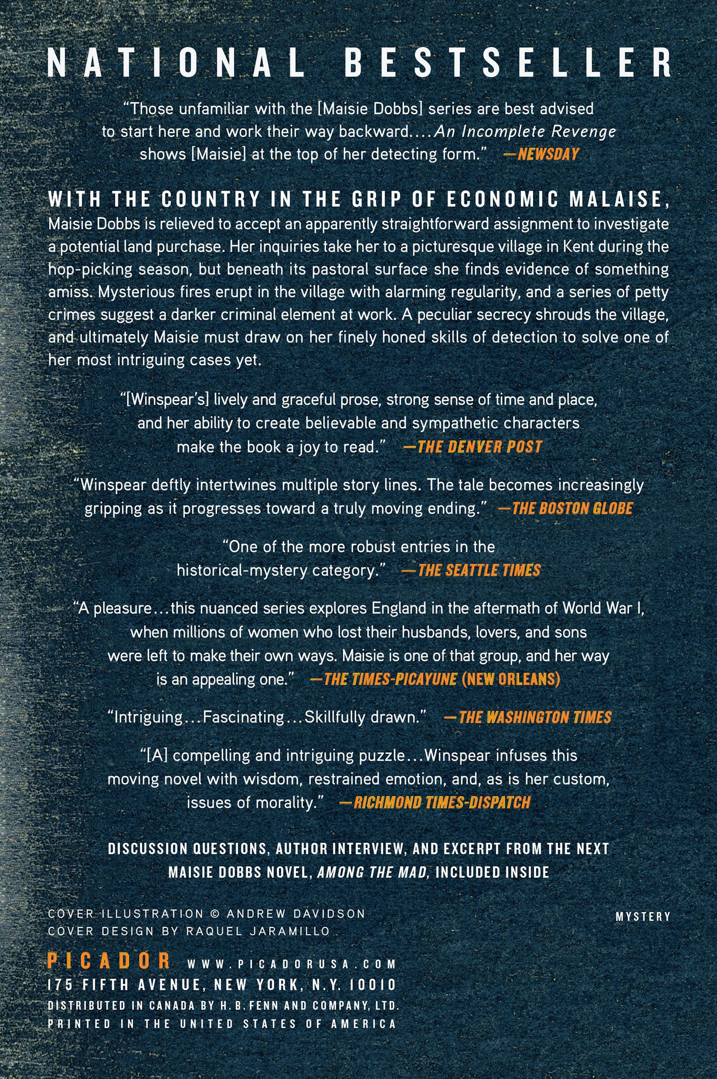 An Incomplete Revenge (Maisie Dobbs Book 5): Jacqueline