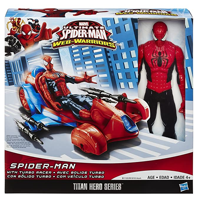 Marvel Ultimate Spider-Man Titan Hero Series Spider-Man Figure with Turbo Racer Vehicle by Spider-Man: Amazon.es: Juguetes y juegos