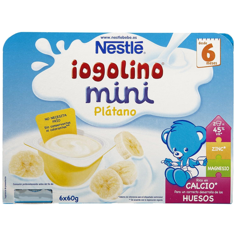 Nestlé iogolino Leche Fermentada con Puré de Plátano - Paquete de 6 x 60 gr - Total: 360 gr: Amazon.es: Alimentación y bebidas
