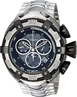 Invicta Mens Bolt Swiss-Quartz Watch with Stainless-Steel Strap, Silver, 15