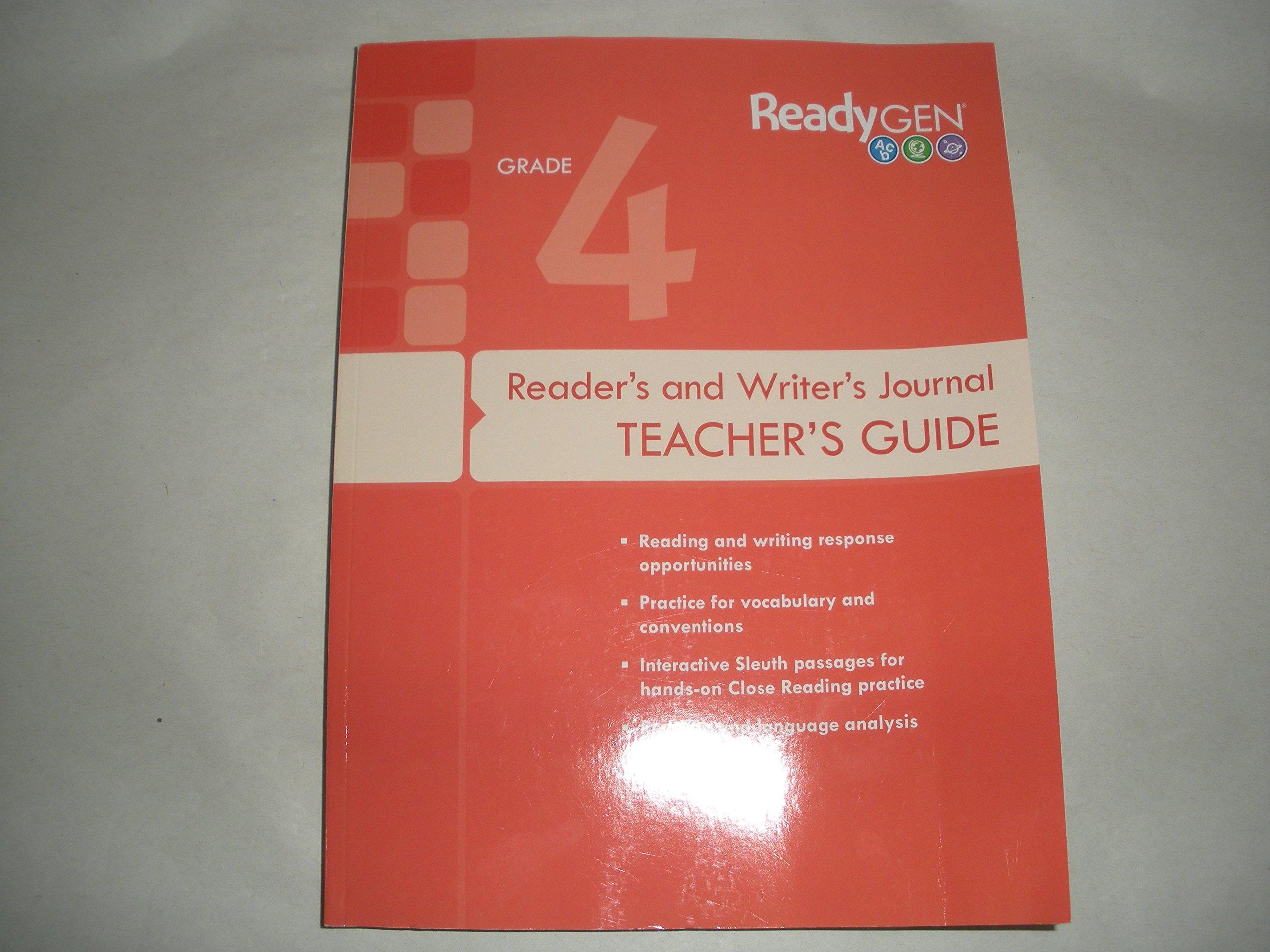 ReadyGen Grade 4 Reader's and Writer's Journal: Teacher's Guide:  9780328851669: Amazon.com: Books