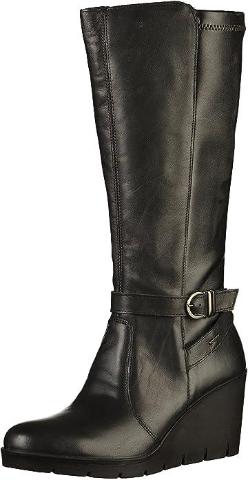c8e261692a3adb Stivali Igi&Co per donna in pelle nera zeppa alta (Taglia 41 ...