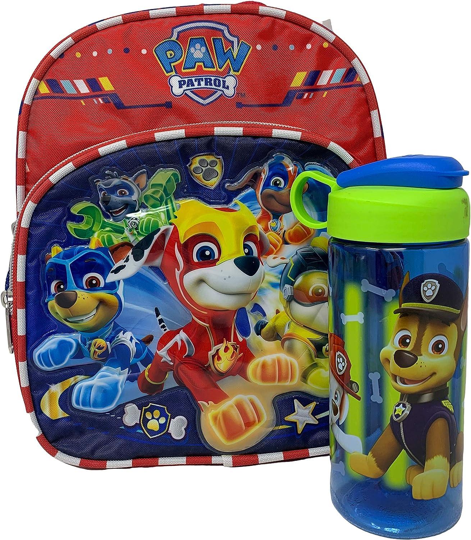 Amazon Com Mighty Pups Paw Patrol 11 Mini Backpack Plus Water Bottle Kids Backpacks