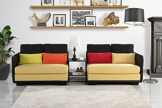 Divano Roma Furniture Classic 2 Piece Colorful Convertible Living Room Sofa