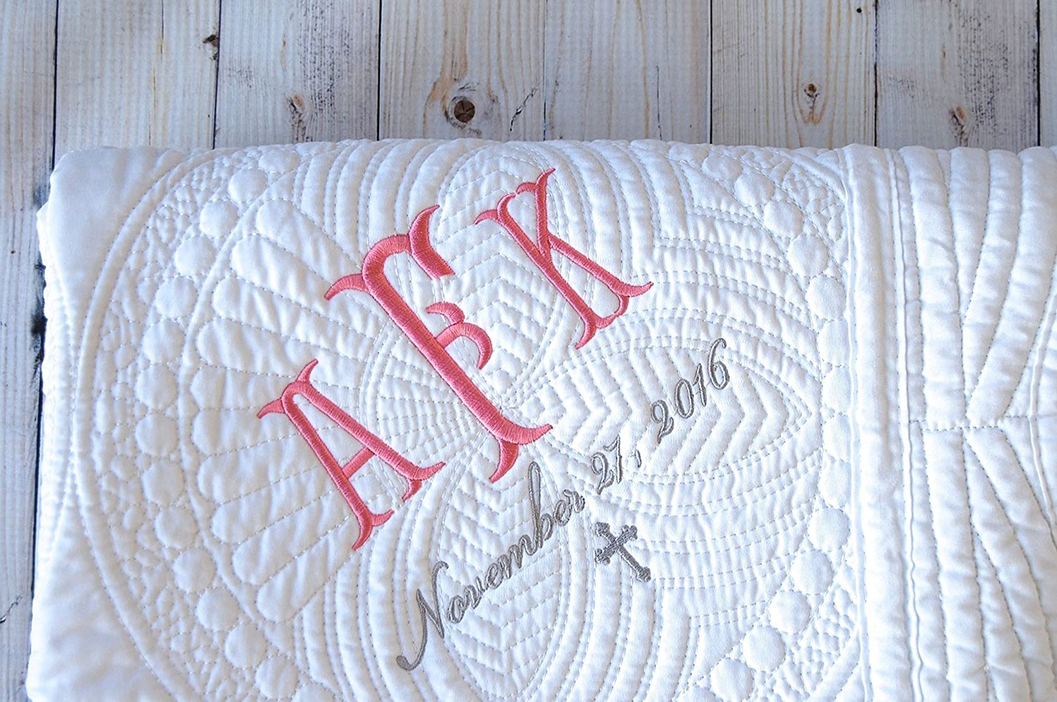 Quilts Bed Covers Baby Blanket Baptism Gift Boy Girl Personalized