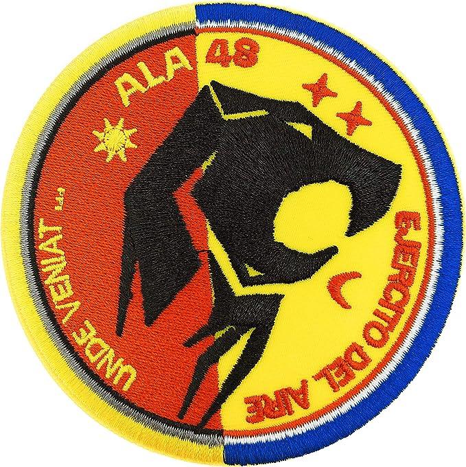 Gemelolandia Parche Termoadhesivo Ala 48 Getafe Ejercito del Aire 9 Cm: Amazon.es: Ropa y accesorios