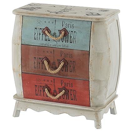Serie vintage como cassettiera legno stile spagnolo ~ modello Leiria ...