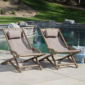 Amazoncom Northland Outdoor Wood and Canvas Sling Chair Set of 2