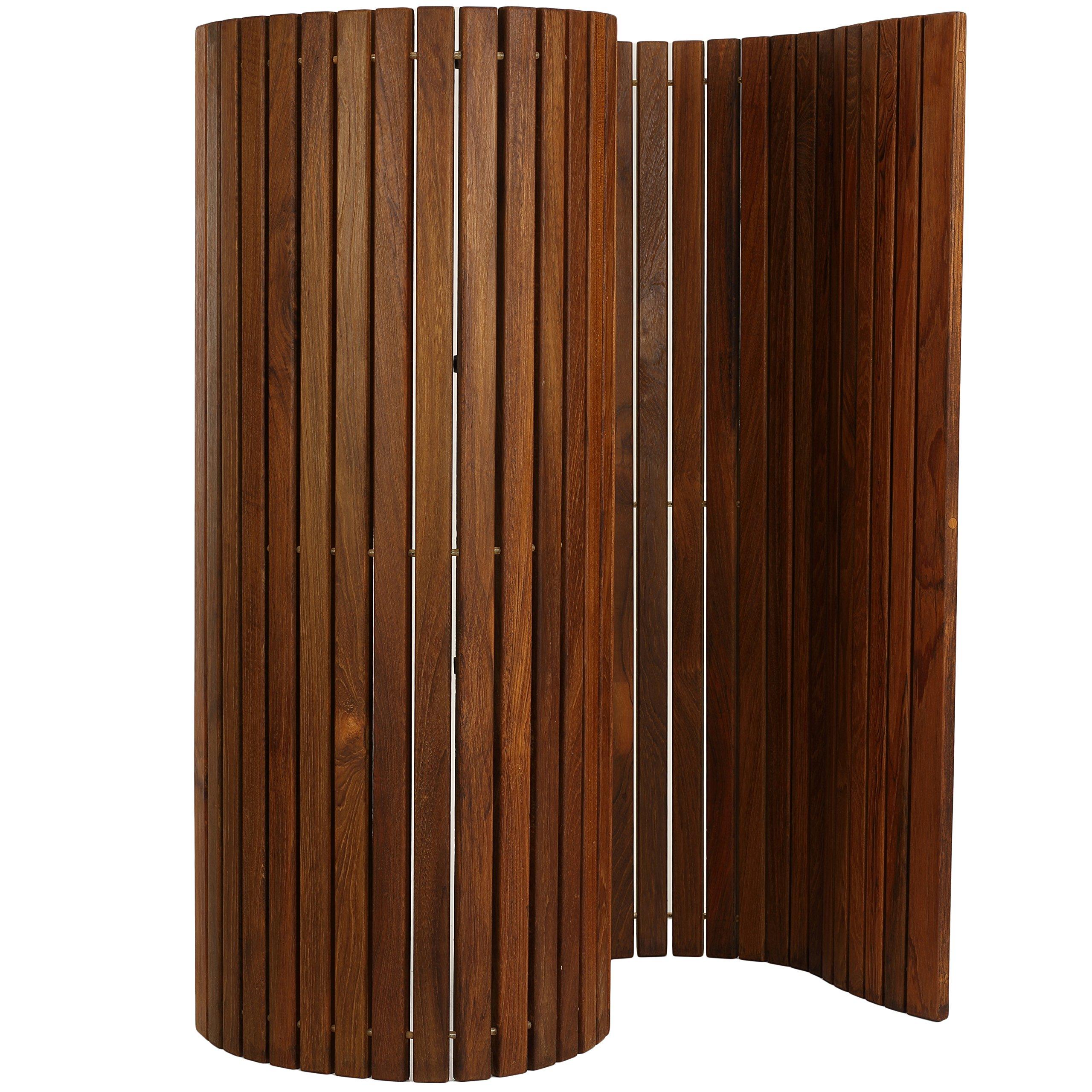 Bare Decor 3 by 5' Oskar String Spa Shower Mat/Rug, X-Large, Solid Teak Wood Oiled Finish by Bare Decor (Image #2)