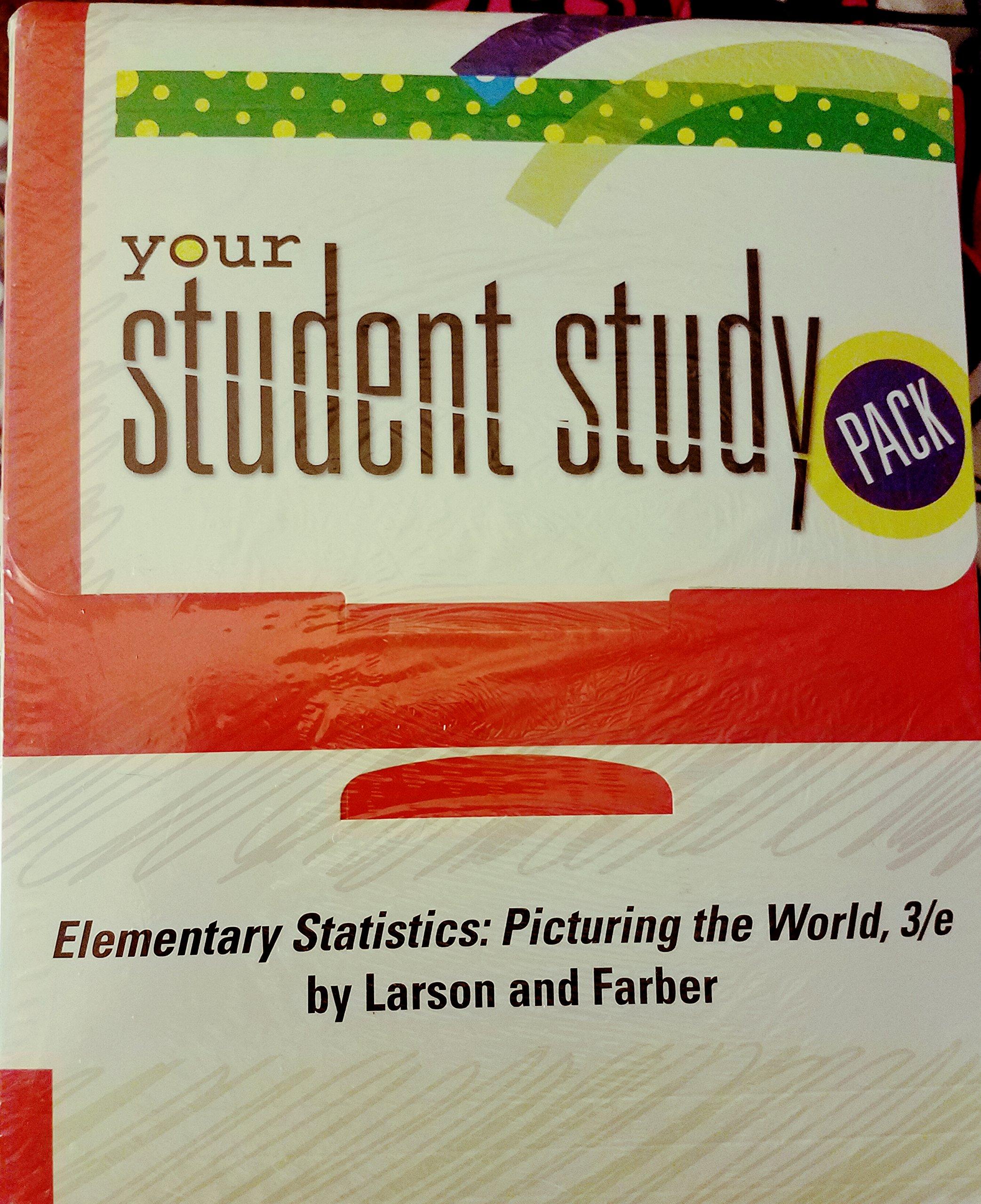 Elementary Statistics: Picturing the World-Student Study Pack: Ron Larson:  9780131343665: Amazon.com: Books