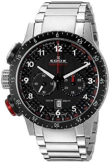 Edox Reloj Analógico para Hombre de Cuarzo con Correa en Acero Inoxidable 10305 3NRM NR: Amazon.es: Relojes