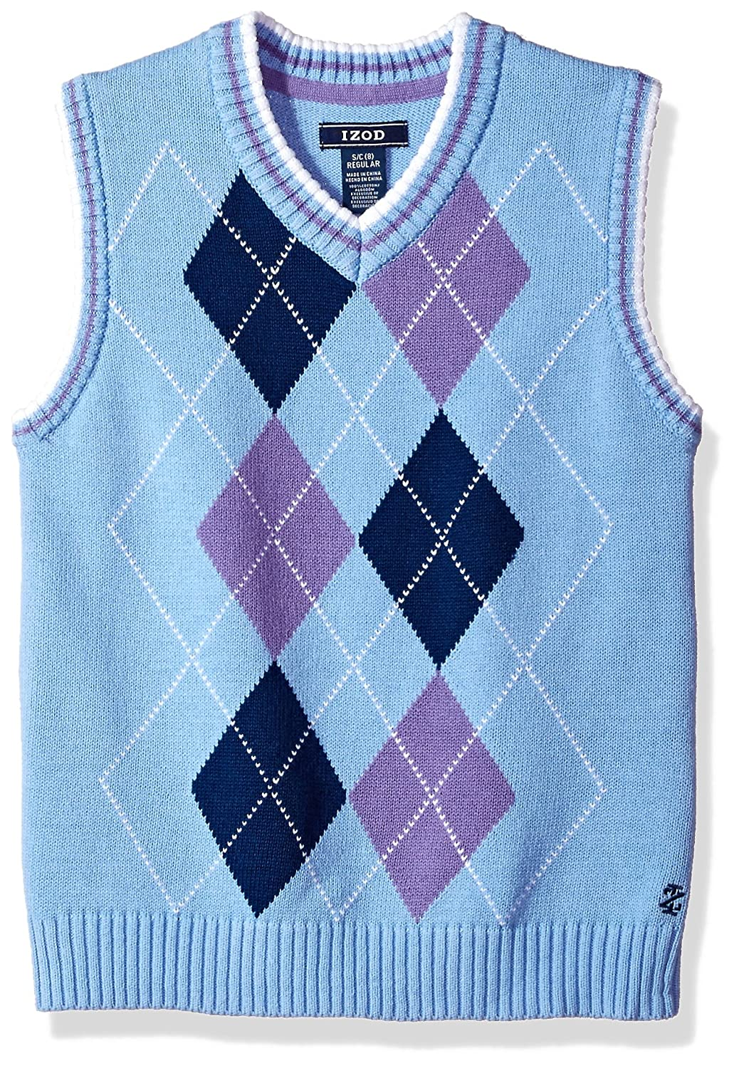 IZOD Boys' Double Argyle Sweater Vest IZOD Children's Apparel
