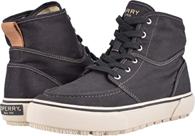 Sperry Men's Bahama Lug Naval Boot Black Boot