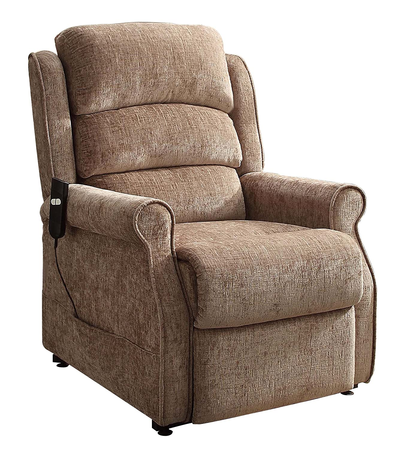 Amazon.com: Homelegance 8509-1LT Power Lift Recliner Chair, Brown ...