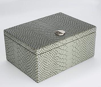 Orbis Global Faraday Box for RFID Keyless Car Keys Signal Blocker, Anti Theft Faraday Cage Fob Keyless Signal Jammer, Fob Protector- Crocodile Texture