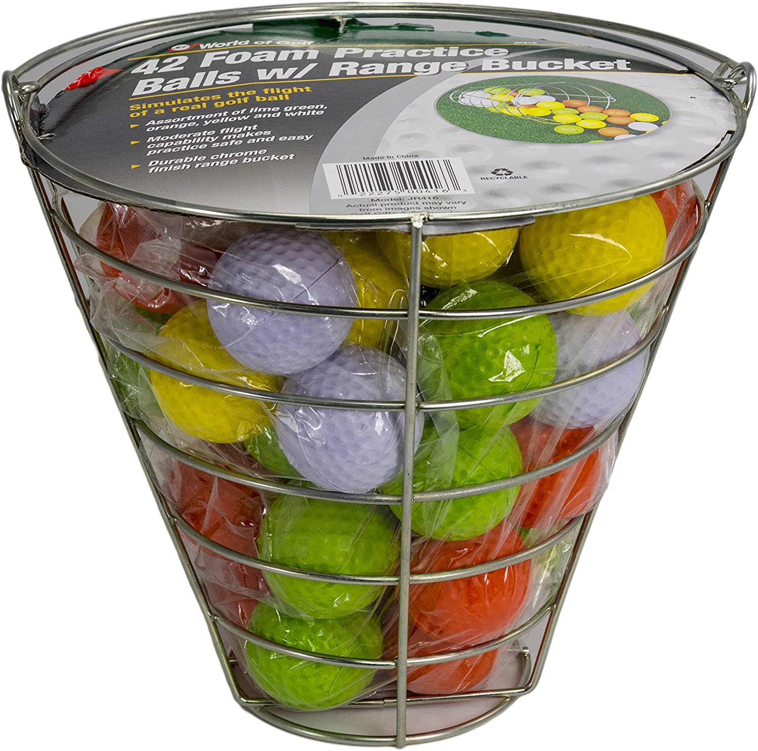 JEF WORLD OF GOLF Foam Practice Balls 42 Multi-Colored Balls