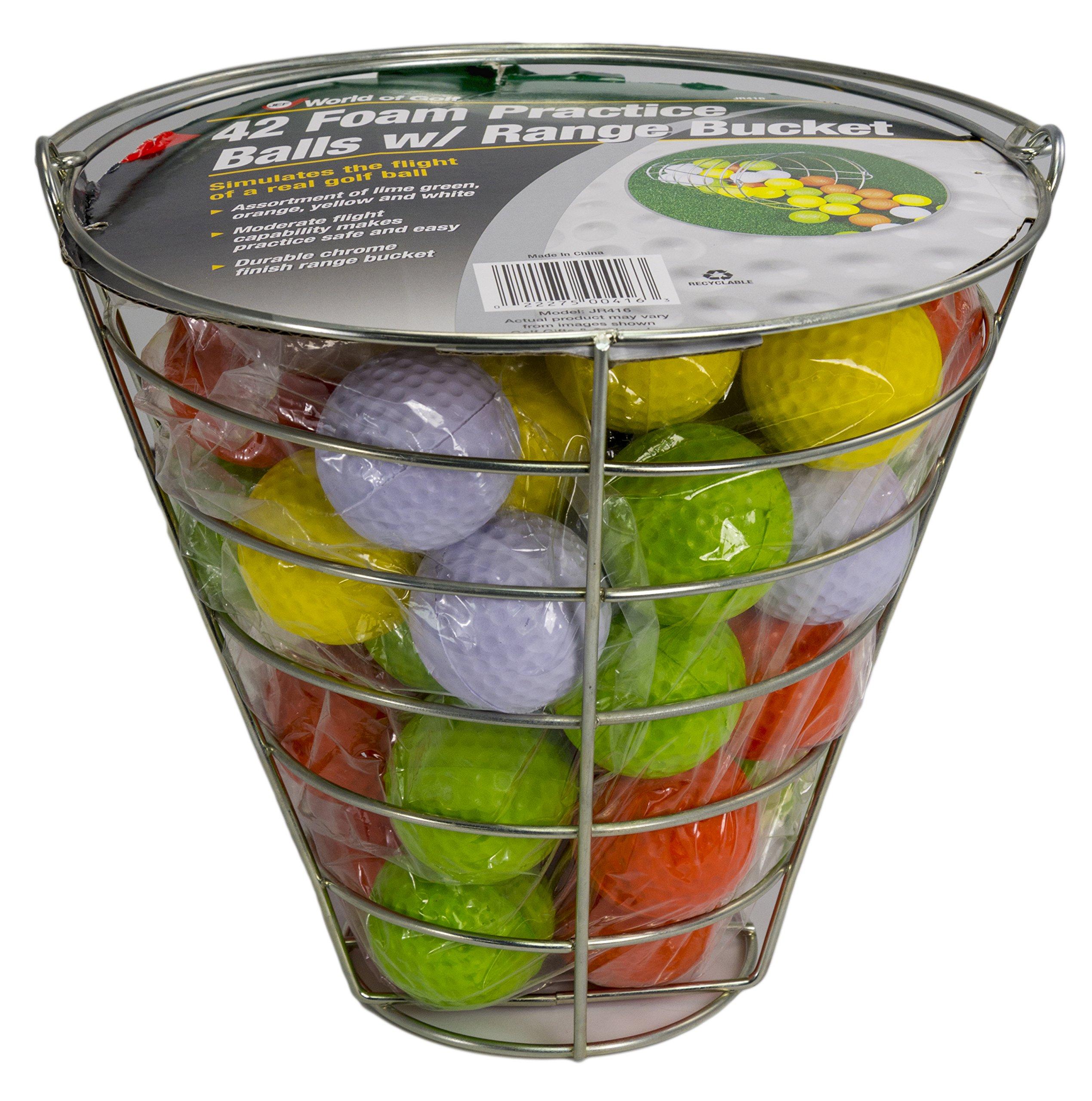 Jef World of Golf Foam Practice Balls (42 Multi-Colored Balls) by JEF WORLD OF GOLF