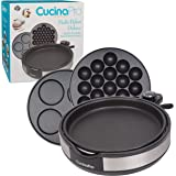CucinaPro Multi Baker Deluxe- 3 Interchangeable Skillets for Grilling, Baking or Dessert Making- Takoyaki, Sandwiches, Cake Pops and Much More