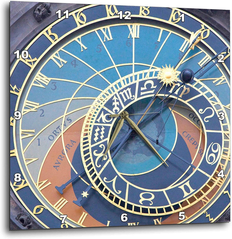 3dRose DPP_81173_3 Czech Republic, Prague Astronomical Clock EU06 BJA0020 Jaynes Gallery Wall Clock, 15 by 15-Inch