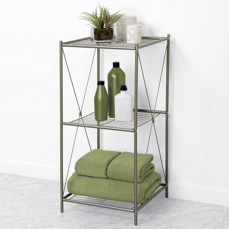 amusing bathroom floor towel rack   Bathroom Floor Stand Organizer Storage Tower Towel Rack ...