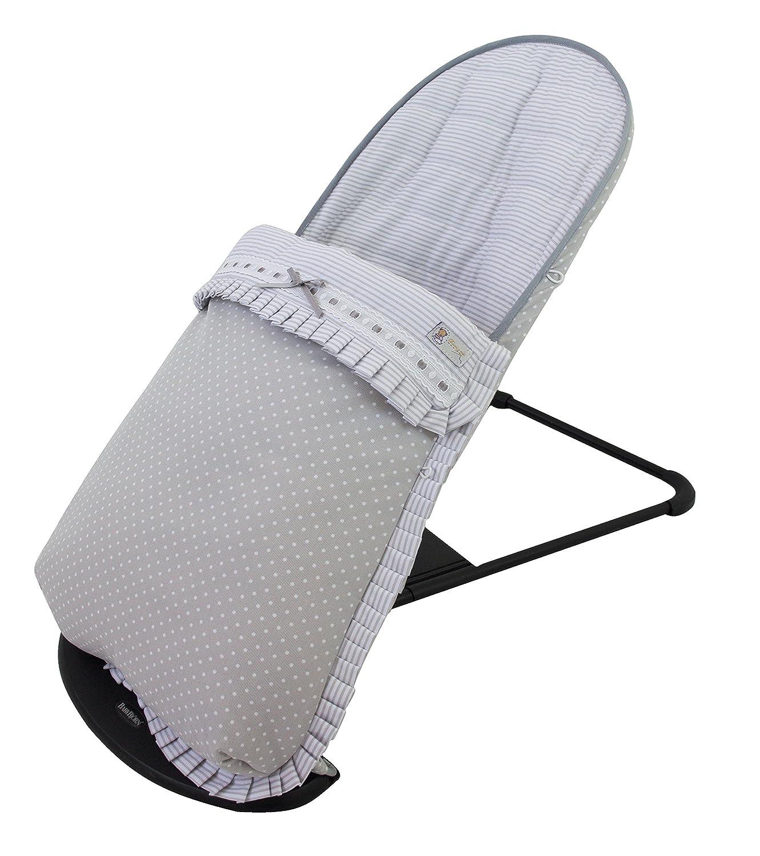 Funda y saco para hamaca babybjörn balance soft (sustituye tapicería original). Estrella gris AMZ120