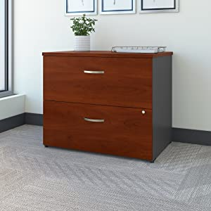 Bush Business Furniture Series C Lateral File Cabinet in Hansen Cherry