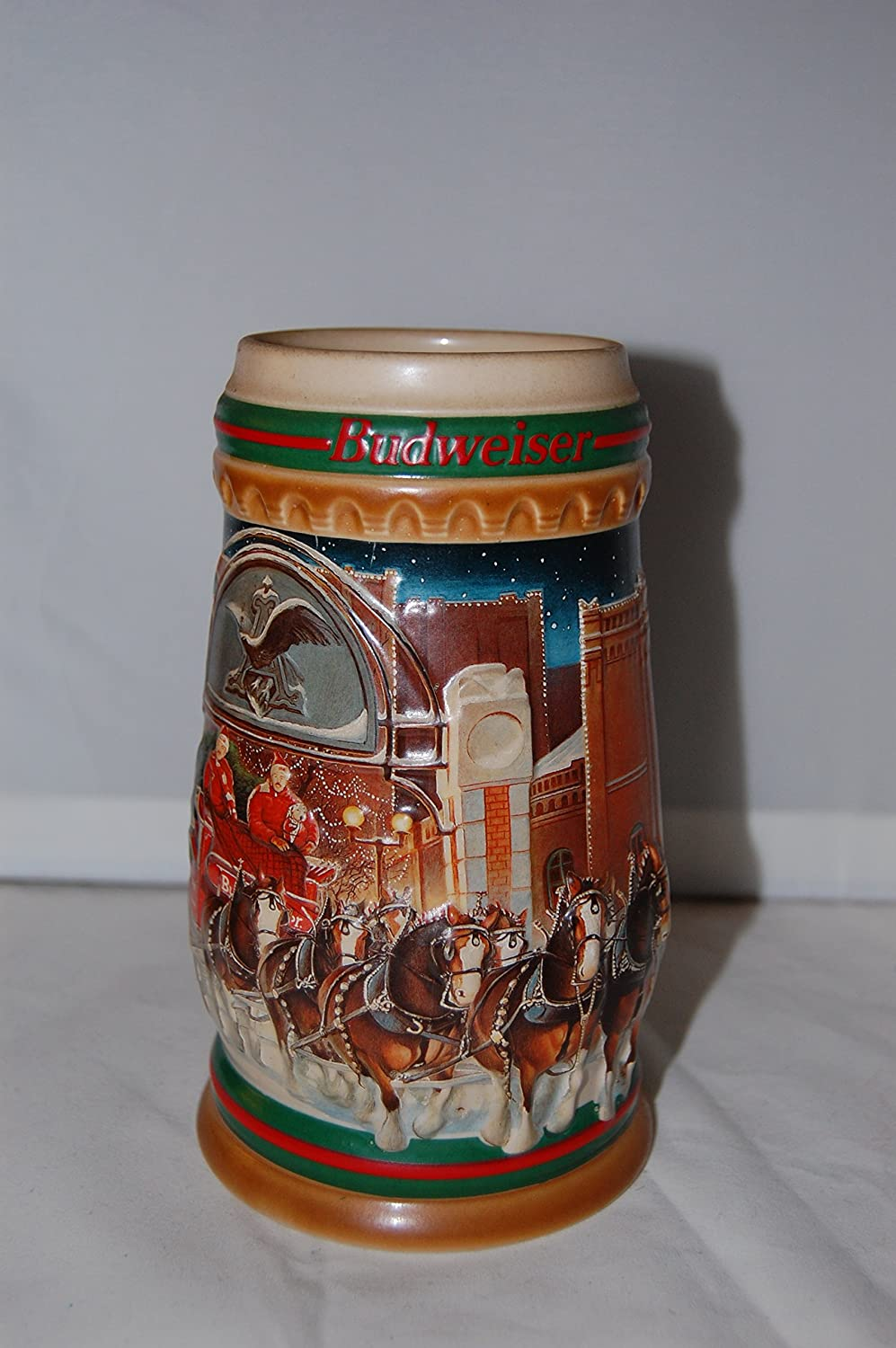 1997 Budweiser Holiday Stein Home for the Holidays