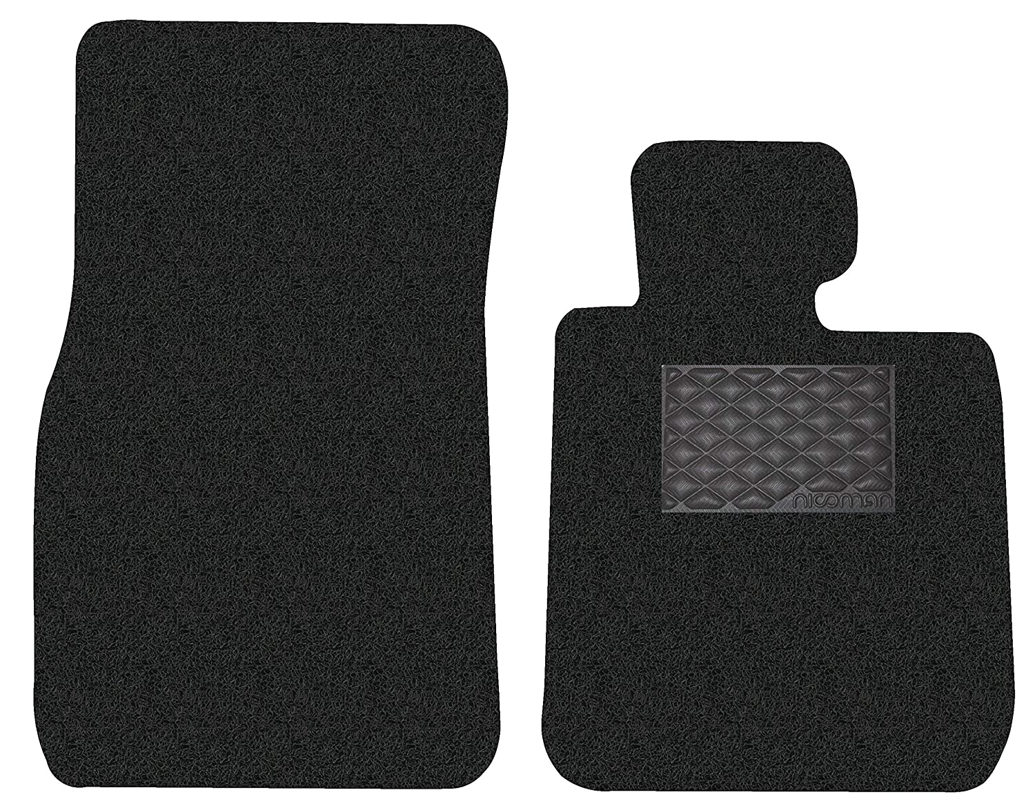 Nicoman 8-MM-C1548-BMW-1-Sr-E81//E87-Hatch-BK-DR Spaghetti All-Weather Fully Tailored Car mats Fit【1-Series Hatchback 3/&5 Doors E81//E87 Year 2004-2012】 Driver Side 1-Piece,Black BMW 5Door