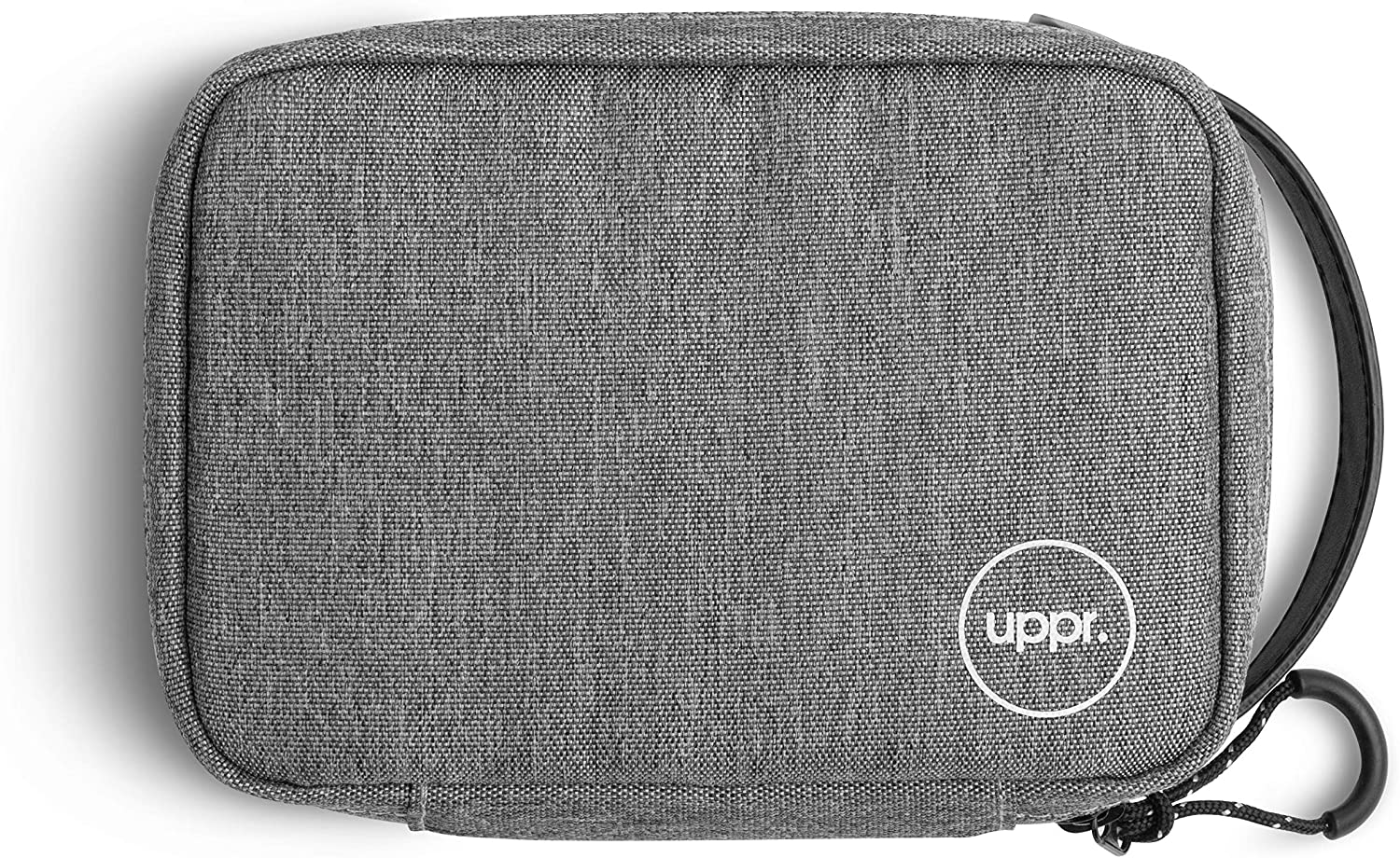 UPPERCASE Organizer 7.5 Portable Electronic Accessories Travel Pouch with Leather Handle for Laptop MacBook Accessories, Chargers, Tech Gears, Gadgets, Cables, Cords, GoPro, Power Bank (7.5)