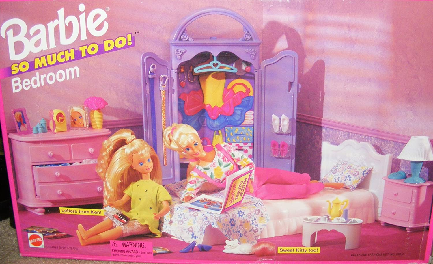 Barbie doll bedroom set - Amazon Com Barbie So Much To Do Bedroom Playset 1995 Retired Toys Games