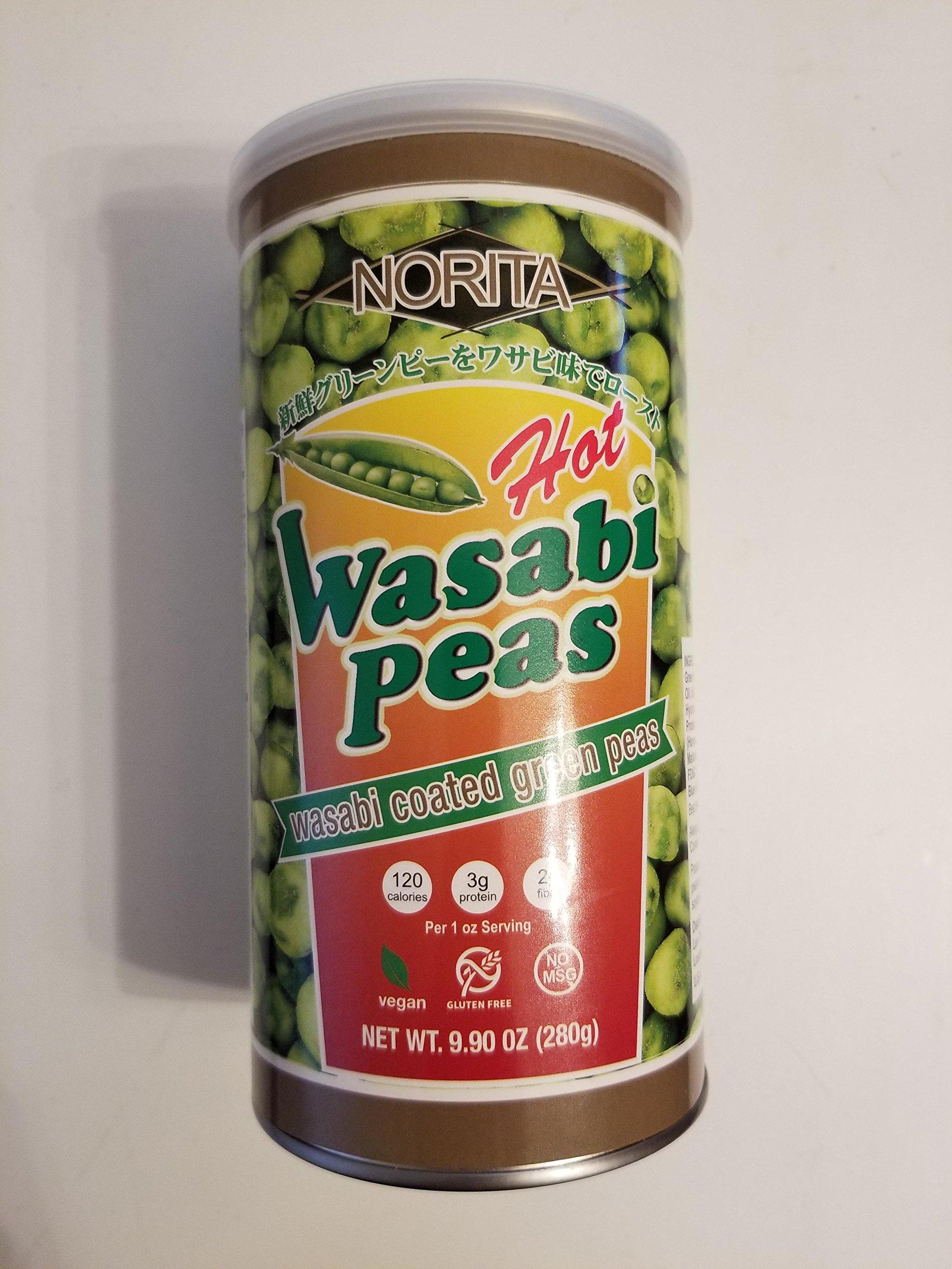Norita Hot Wasabi Peas 9.9 oz - 12 per case