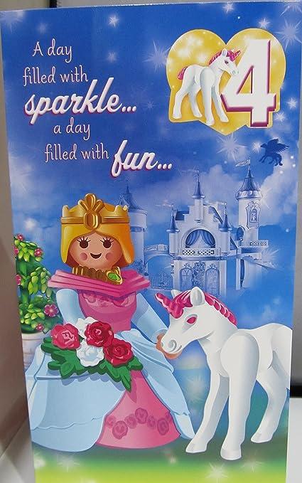 Hallmark Playmobil Edad tarjeta de cumpleaños 4: Amazon.es ...