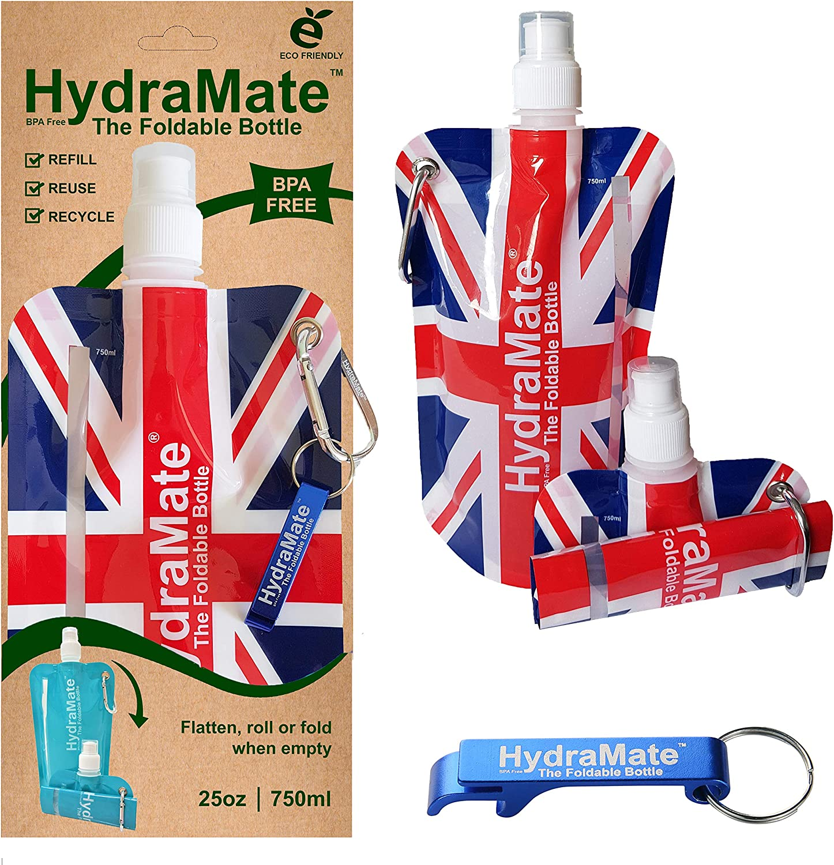 HydraMate Botella DE Agua Plegable 750ml. Libre DE BPA. Ligera ...