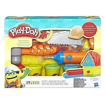 a55cb8b116 Conjunto Massinha Play-Doh Kit de Construção Hasbro  Amazon.com.br ...