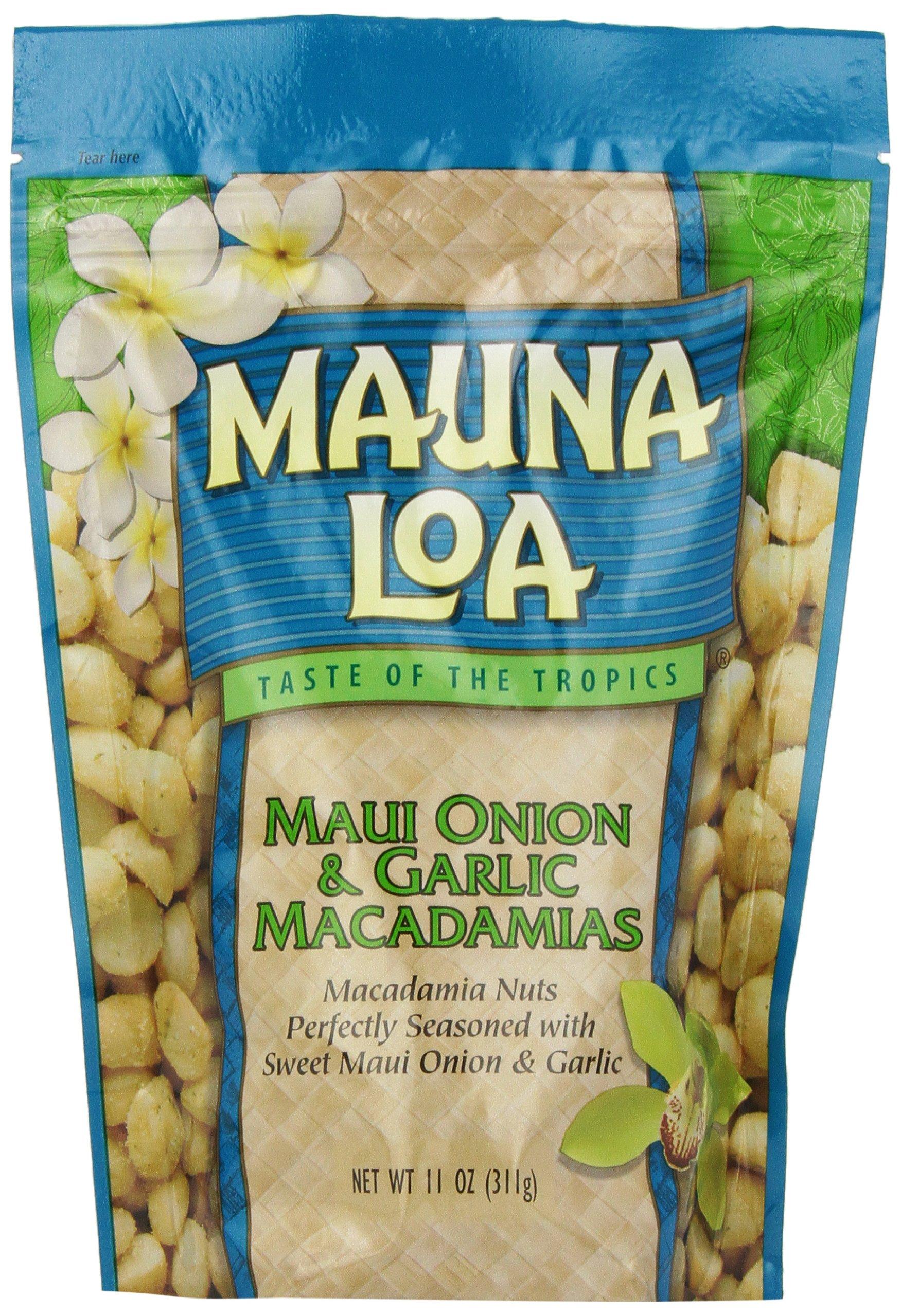 Mauna Loa Macadamias, Maui Onion & Garlic, 11-Ounce Packages by Mauna Loa