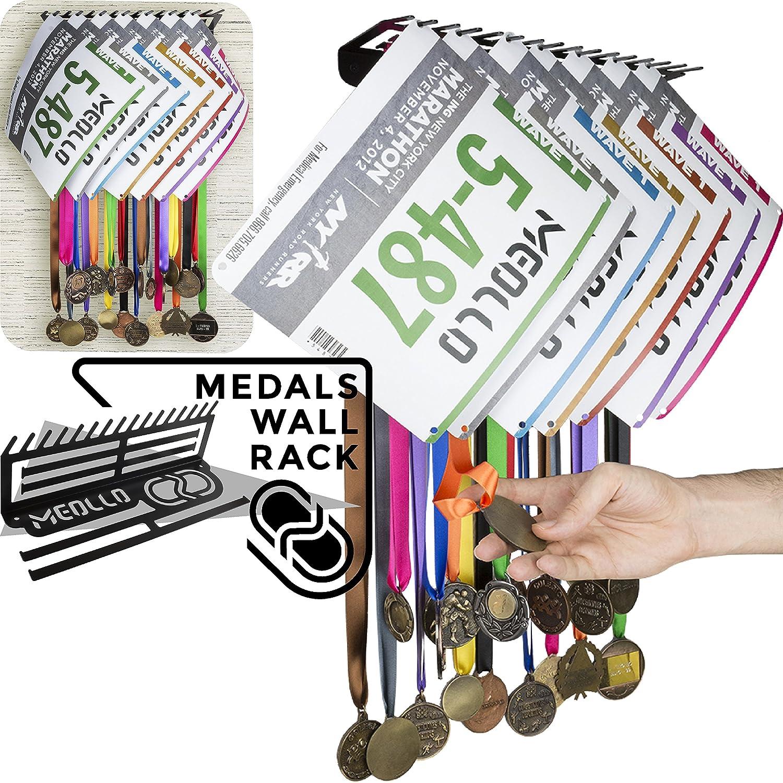 Medallero colgador de medallas (100% Acero) - Fabricado en España (Blanco) MEOLLO Medallero3