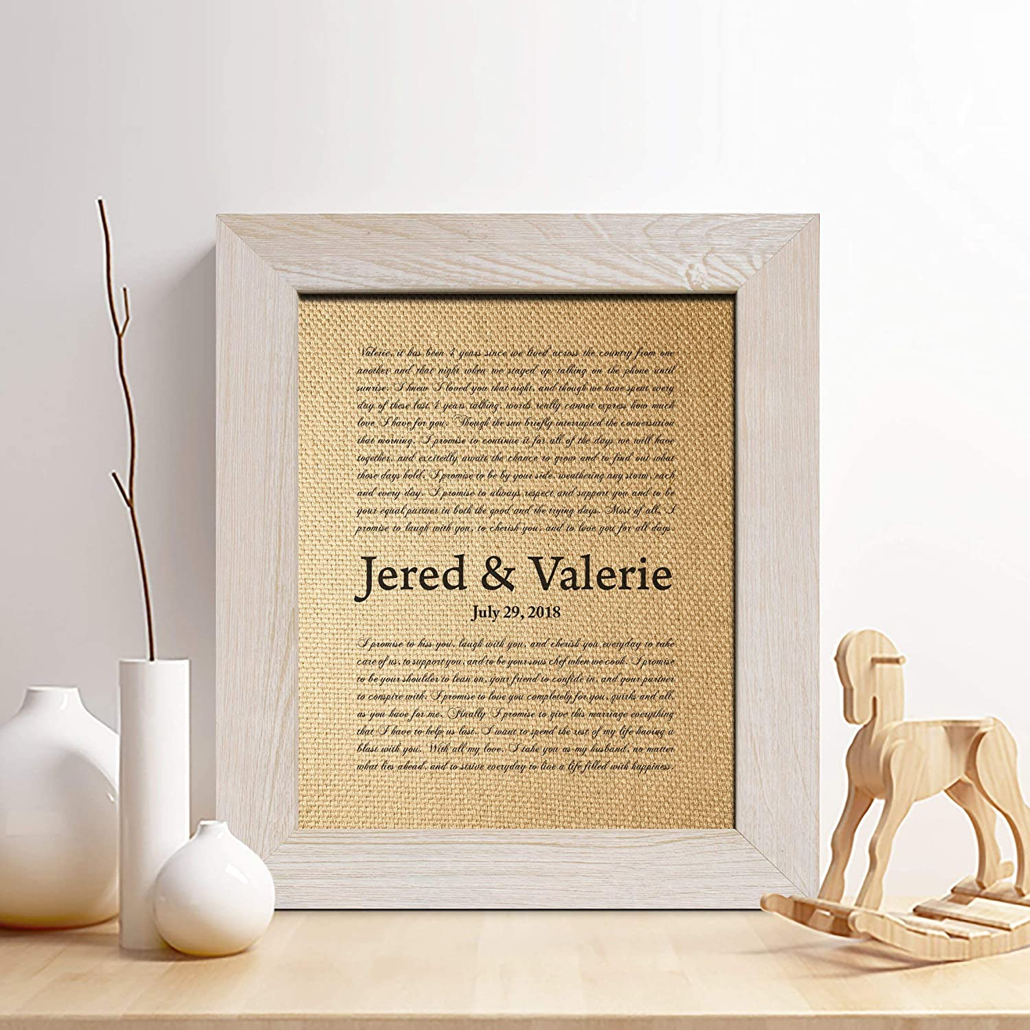 Amazon Com Personalized Anniversary Gift For Him Or Her