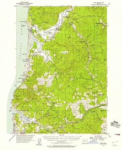 Amazon Com Oregon Maps 1955 Hebo Or Usgs Historical Topographic
