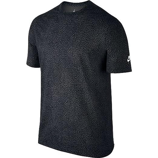Jordan Air 3 Elefante impresión Camiseta para Hombre Gris/Negro ...