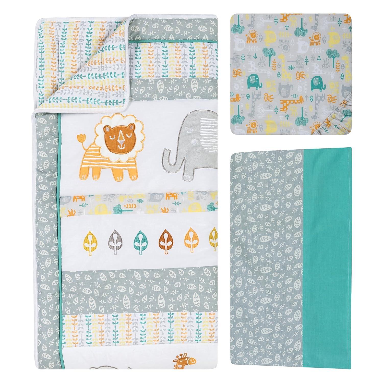 amazoncom  trend lab  piece crib bedding set lullaby jungle  baby -