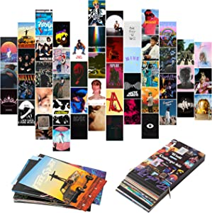 YINGENIVA 50PCS Album Cover Aesthetic Pictures Wall Collage Kit, Album Style Photo Collection Collage Dorm Decor for Girl and Boy Teens, Trendy Wall Prints Kit, Small Poster for Room Bedroom Aesthetic