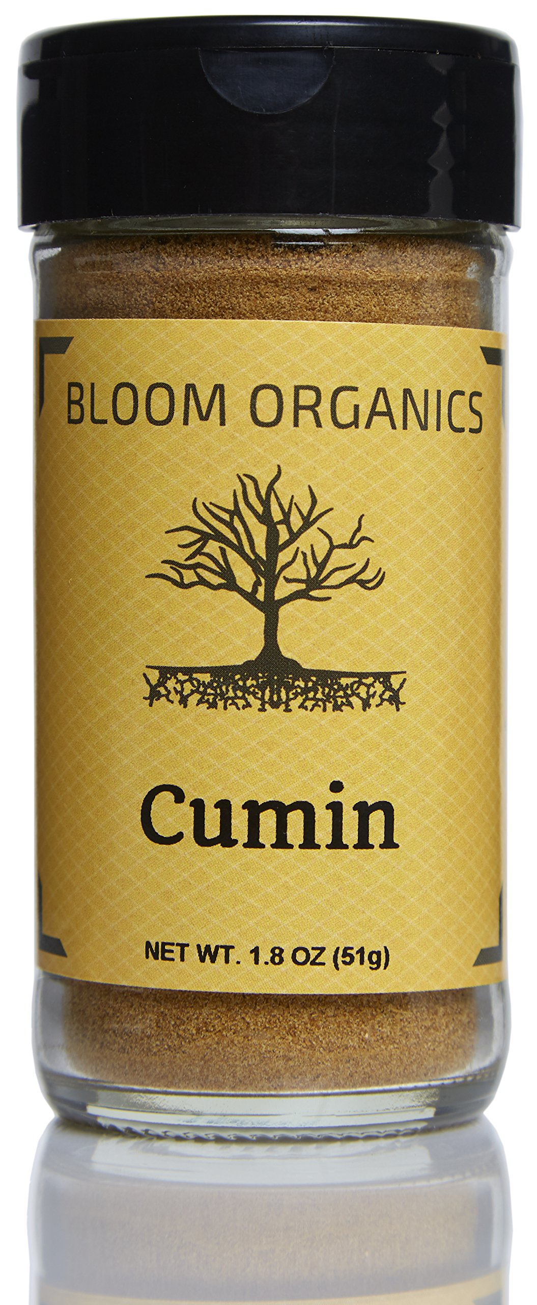 Bloom Organics Cumin USDA Certified Organic, 1.8 oz - Glass Jar