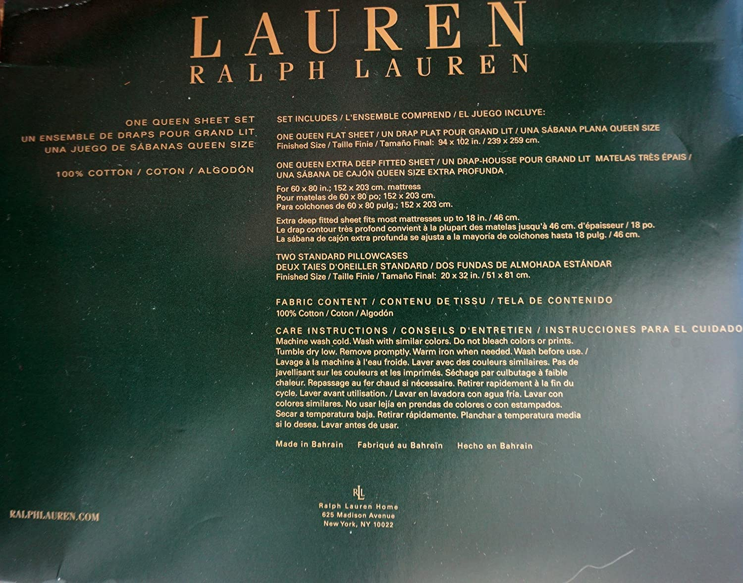 Amazon.com: Lauren Ralph Lauren 4 Piece Cotton Queen Size Sheet Set Leopard Cheetah Print: Home & Kitchen