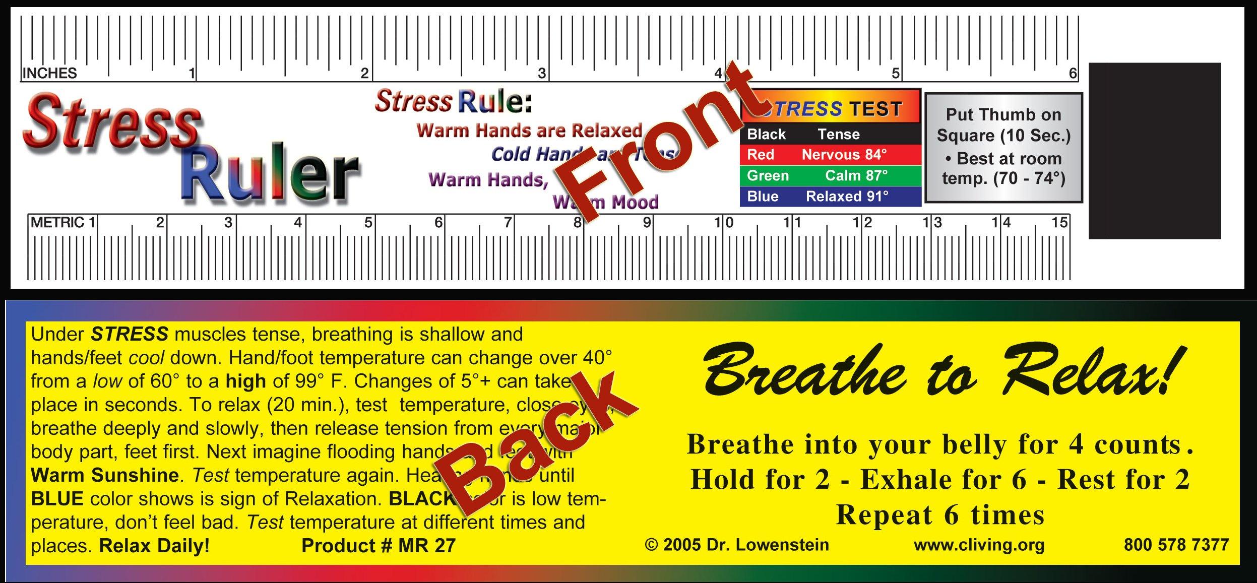 Stress Ruler Mood Ruler - MC27 heavy cardstock 5000
