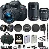 Canon T5i DSLR with 32GB, 4 lens bundle (18-55mm, 55-250mm, 58mm Wide Angle & 58mmTelephoto)