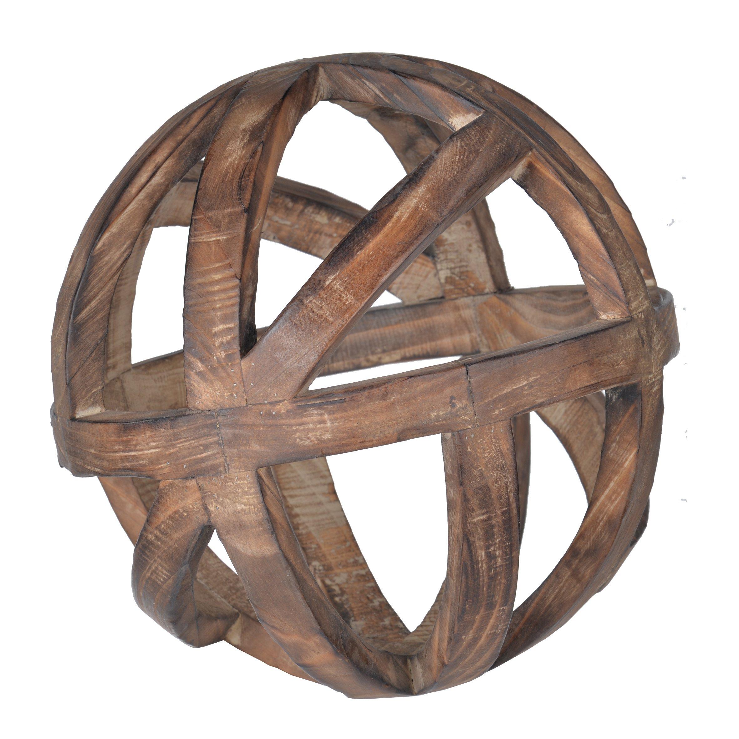 A&B AV42506-AB D10 Decorative Wood Ball