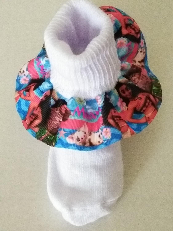 Moana and Maui inspired Ruffle Socks, Moana socks, Baby ruffle socks, infant ruffle socks, birthday ruffle socks, Character socks, Moana hair bow