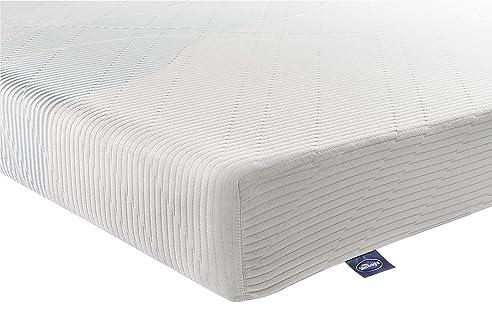 Silentnight Matratze Zone Memory Foam Gerollt Matratze, Polyurethan, Weiß,  Einfach (90 X